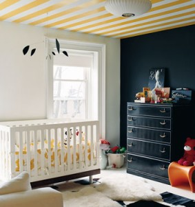 black and yellow nursery