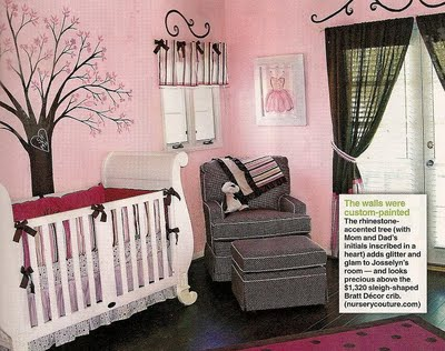 Samantha harris baby nursery - Entrancing pink and brown girl bedroom for your lovely daughters ...
