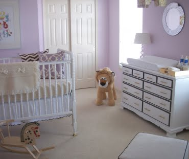 Baby girl nursery Calming colors for baby nursery