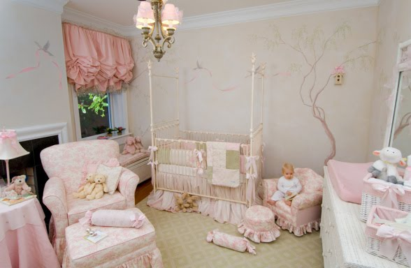 Shabby Chic : Baby Girl Nursery