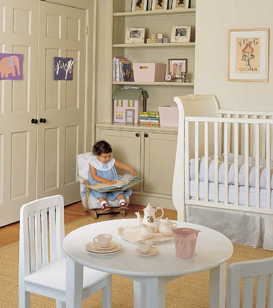 Charming white nursery for Elle decor nursery