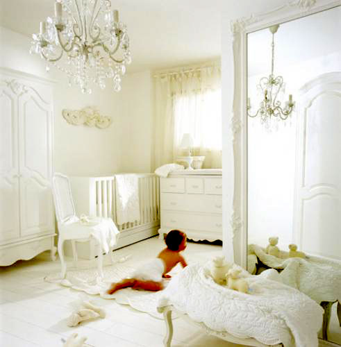 Kourtney Kardashian Designs An All White Nursery